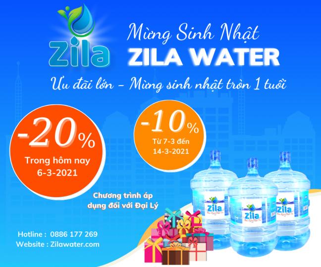 Zila Water mừng sinh nhật 1 tuổi