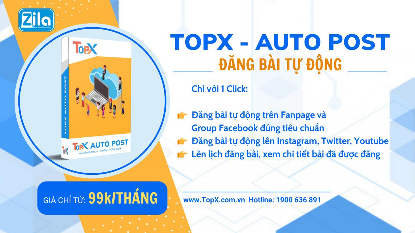 TopX - Giải pháp quản lý Fanpage đỉnh cao