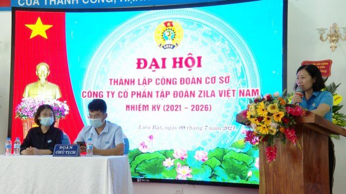 Bà Đỗ Thị Phương Nga Chủ tịch Liên Đoàn Lao động Huyện giao nhiệm vụ cho BCH CDCS