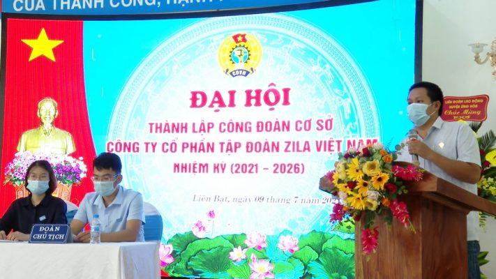 CEO Trần Nhật Minh chúc mừng thành lập CĐCS Zila Việt Nam
